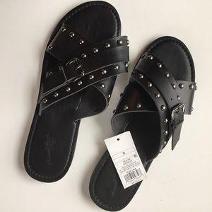 Universal thread black kellan sandals NWT size 8